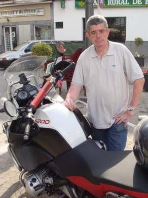 Zarazaga y su moto